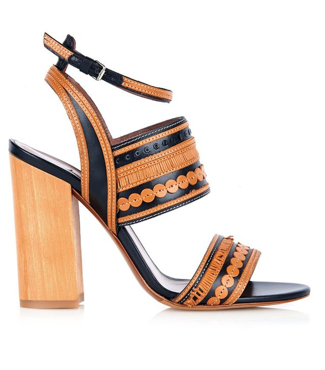 Tabitha Simmons Shaewood Block-Heel Leather Sandals