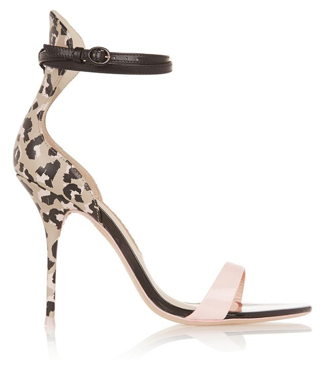 Sophia Webster Nicole Patent-Trimmed Printed Leather Sandals