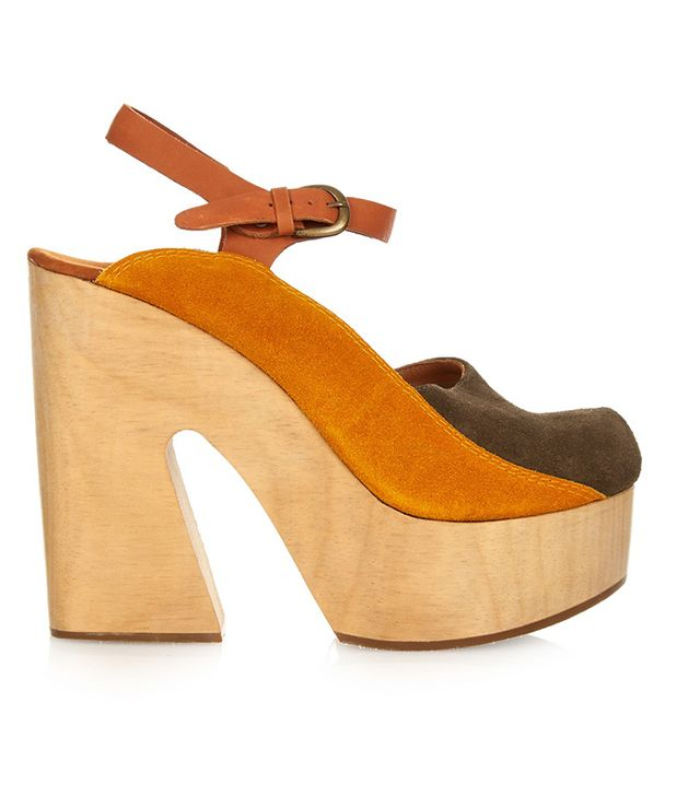 Rachel Comey Alton Bi-Colour Suede Platform Sandals