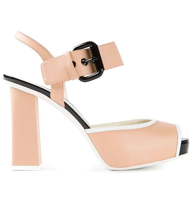 Pollini Chunky High Heel Sandals