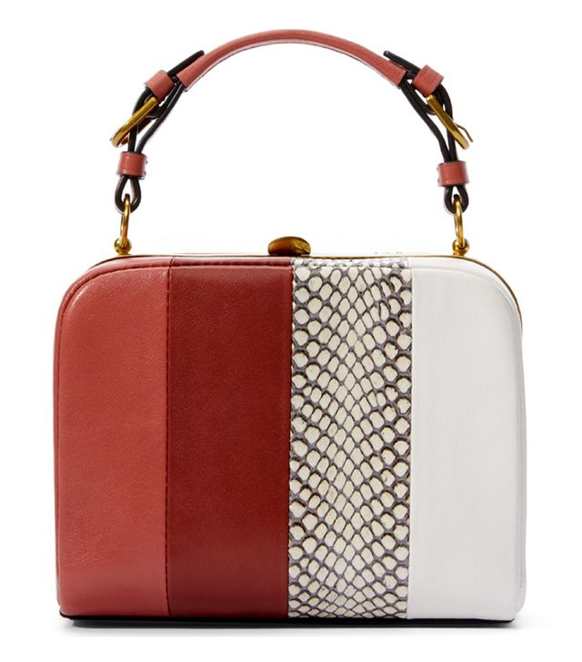 Tory Burch Stripe Mini Frame Clutch
