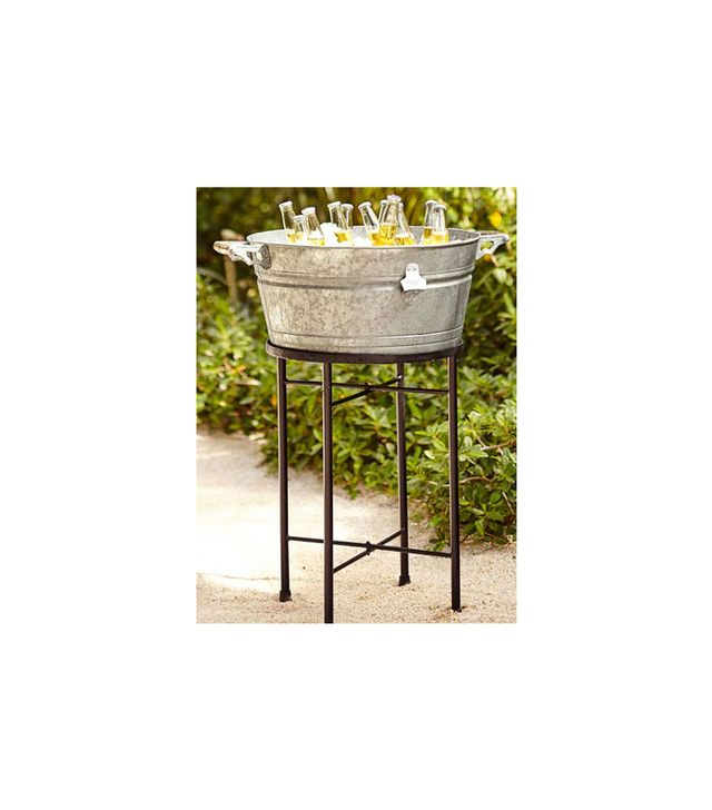 Pottery Barn Galvanized Party Bucket and Stand