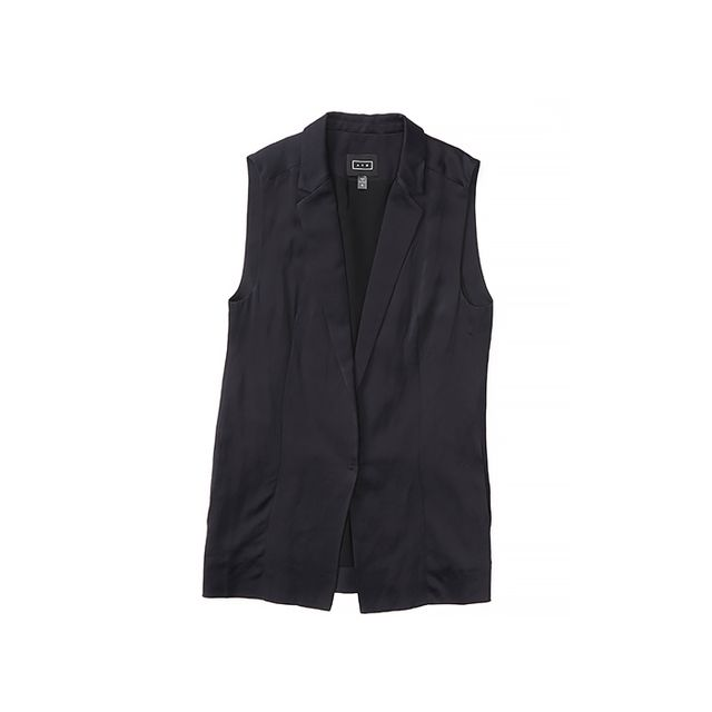 AYR The Sleeveless Blazer in Deep Marine