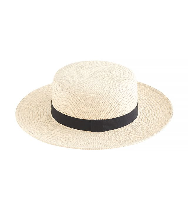J.Crew Straw Boater Hat