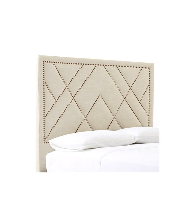 West Elm Patterned Nailhead Headboard
