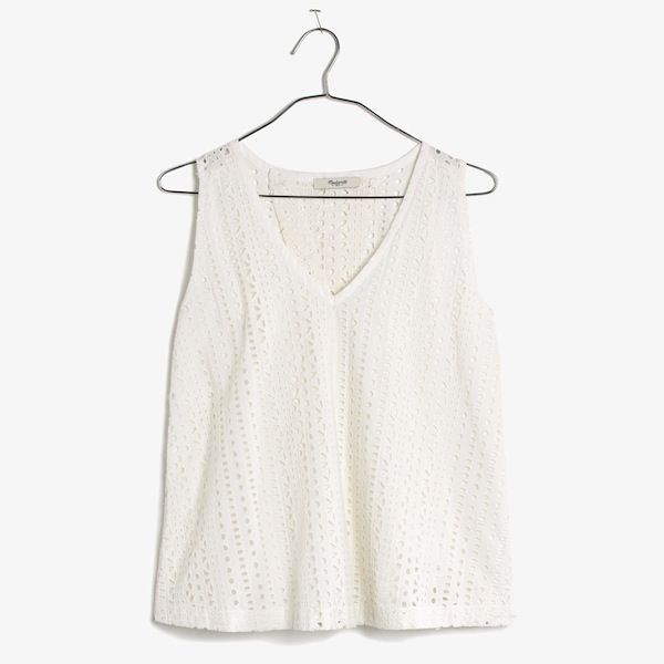 Madewell Eyelet Swing-Back Top