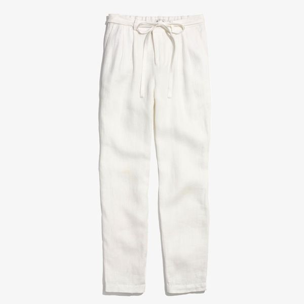 Madewell Linen Delancey Slouch Trousers
