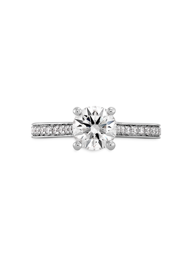 Hearts on Fire Channel Engagement Ring