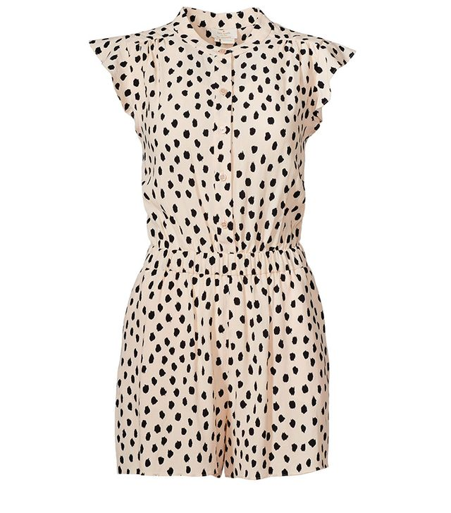 Kate Spade New York Leopard Dot Crepe Romper