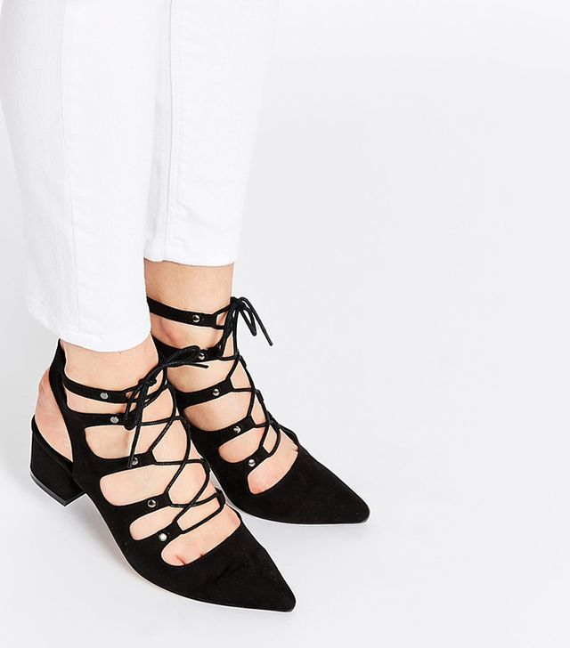 ASOS Streets Ahead Lace-Up Heels