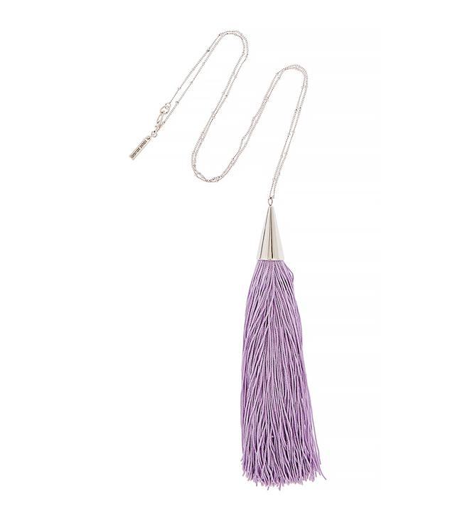 Eddie Borgo Silver-Tone Tassel Necklace