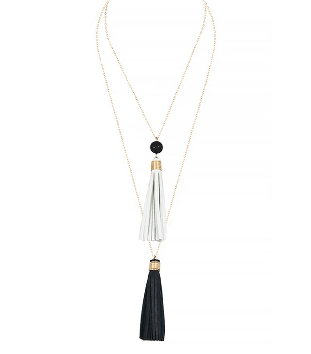 Faire Collection Dual Tassel Necklace