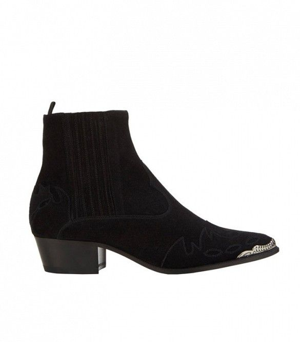 Saint Laurent Duckies Western-Style Ankle Boots