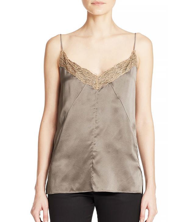 Rag & Bone Izabella Lace-Trimmed Silk Camisol