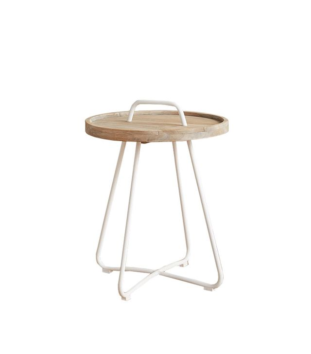 Anthropologie Threaded Button Side Table