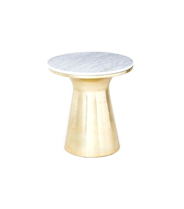 West Elm Marble Topped Pedestal Side Table