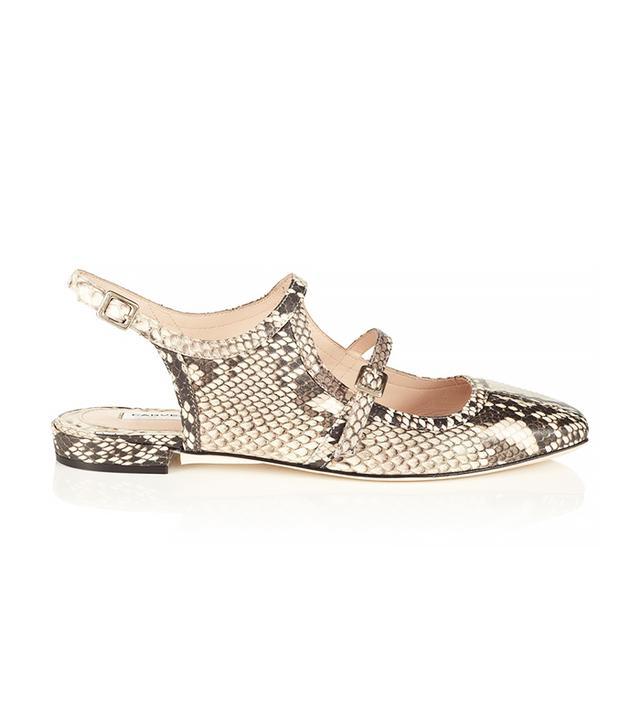 Carven Natural Snakeskin Leather Shoes