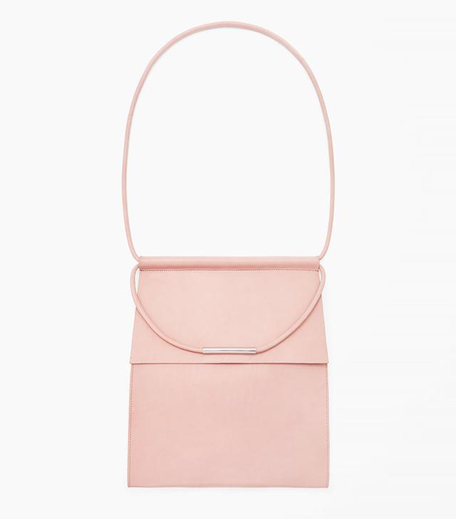 COS Pink Leather Shoulder Bag