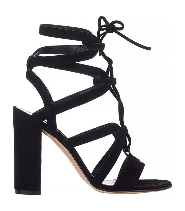 Gianvito Rossi Strappy Lace-Up Sandals, Black