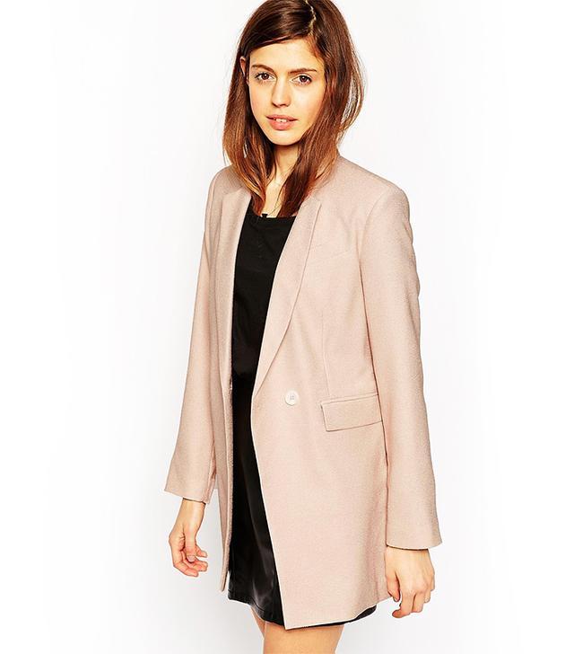 ASOS Longline Textured Suit Blazer