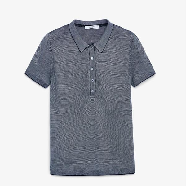 Mango Striped Polo Shirt