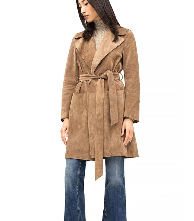 Zara Suede Studio Trench Coat