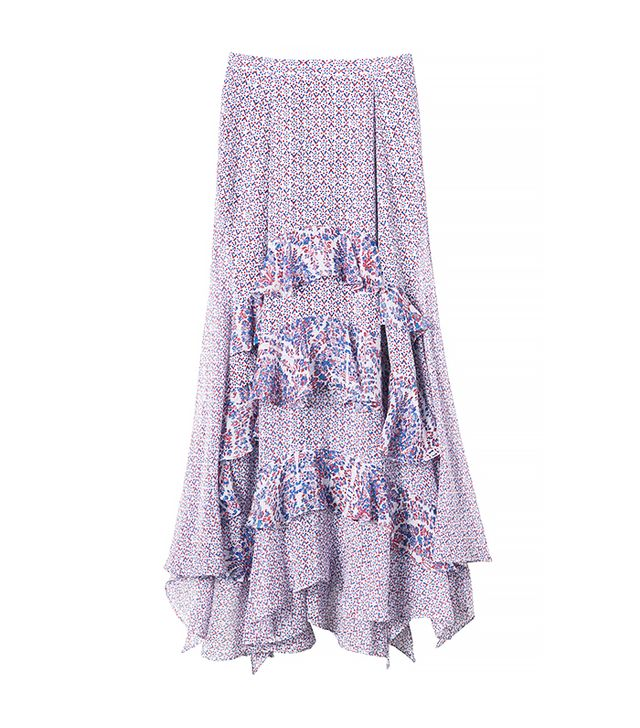 Rebecca Taylor Tiered Paisley Skirt