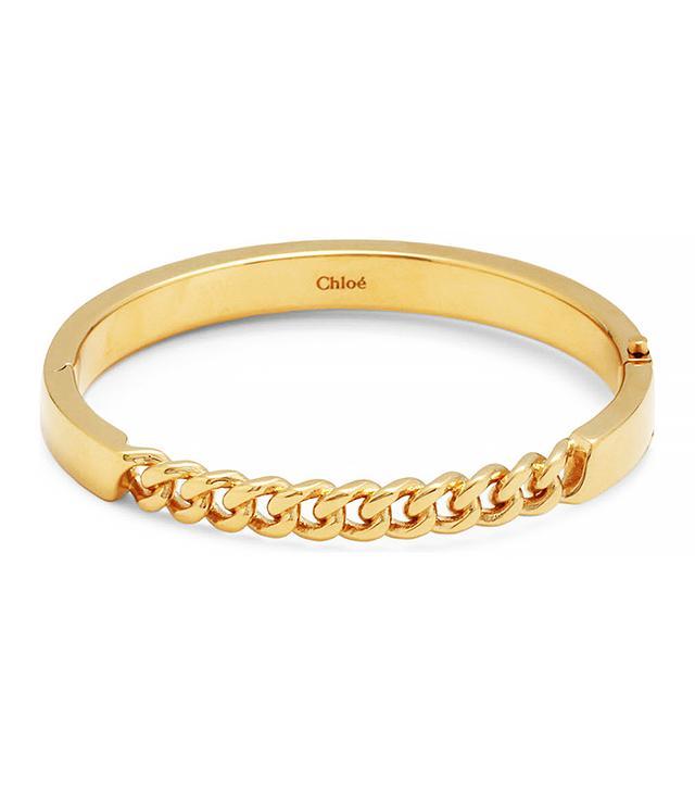 Chloé Carly Gold-Toned Chain-Link Bracelet
