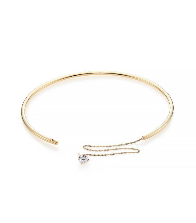 Maison Margiela Zircon Solitaire Convertible Single Earring & Choker Necklace