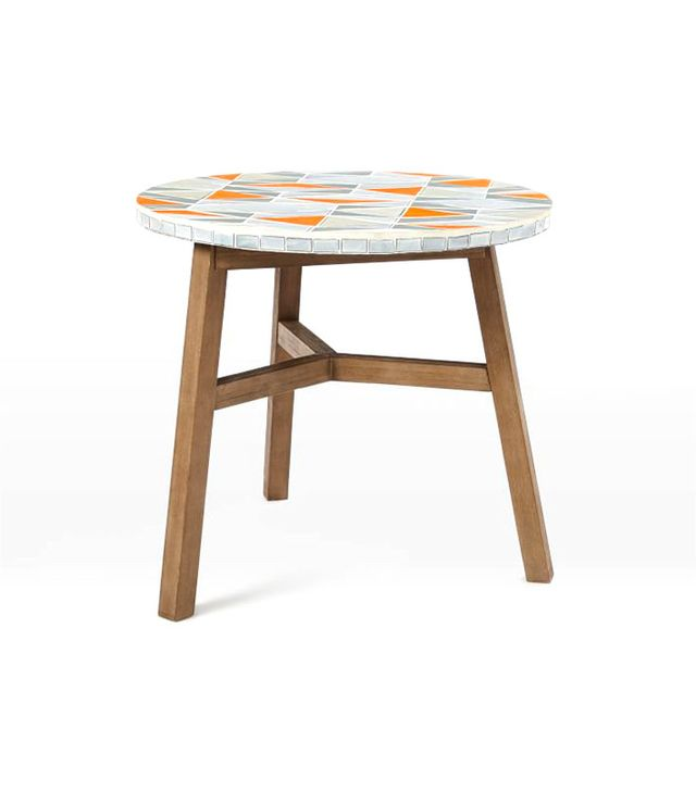 West Elm Mosaic Tiled Bistro Table, Mid-Century