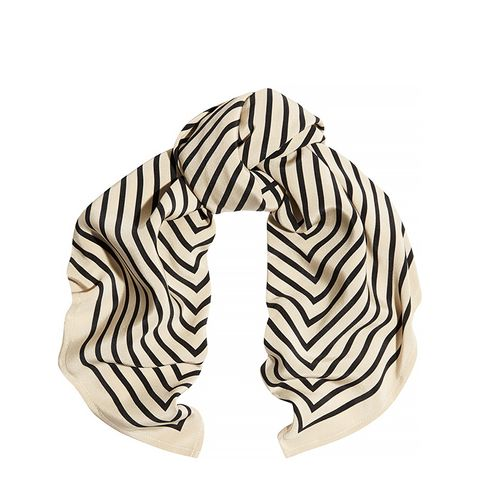 Striped Silk-Faille Scarf