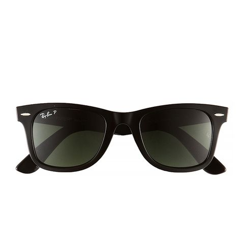'Classic Wayfarer' 50mm Polarised Sunglasses, Tortoise