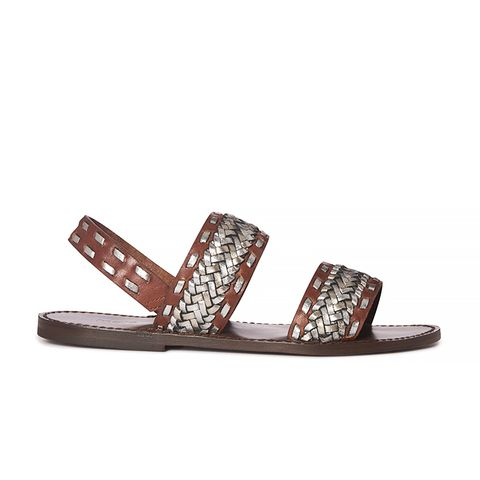 Fatale Braided Leather Sandals