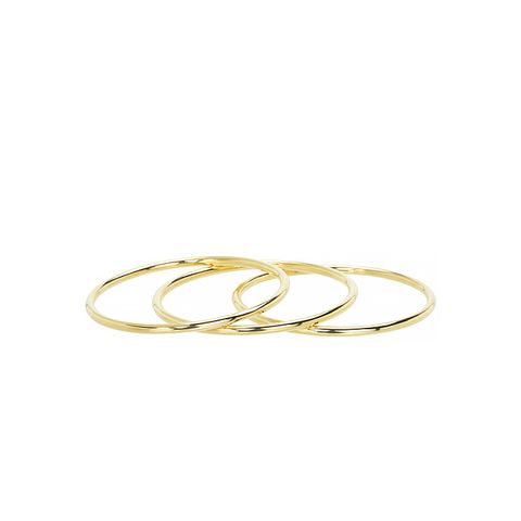 3 Tube Bangle Set, Gold