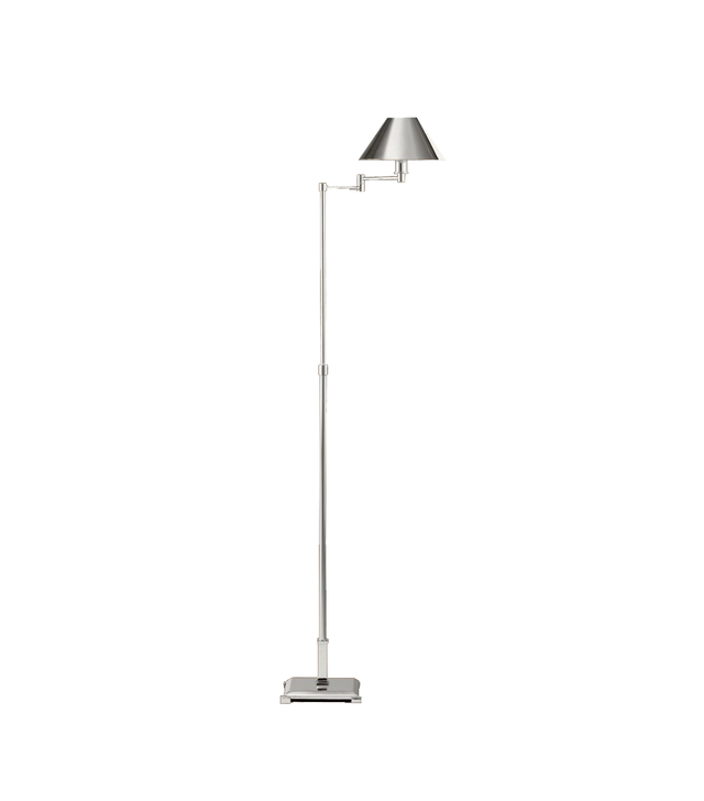 Restoration Hardware Petite Candlestick Swing-Arm Floor Lamp With Metal Shade
