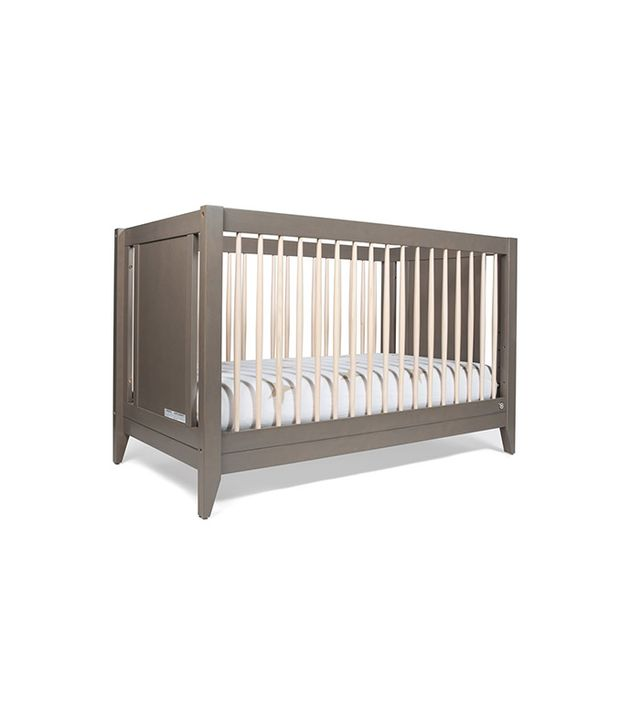 The Honest Co. x Babyletto Weathered Gray 4-in-1 Convertible Crib With Toddler Rail