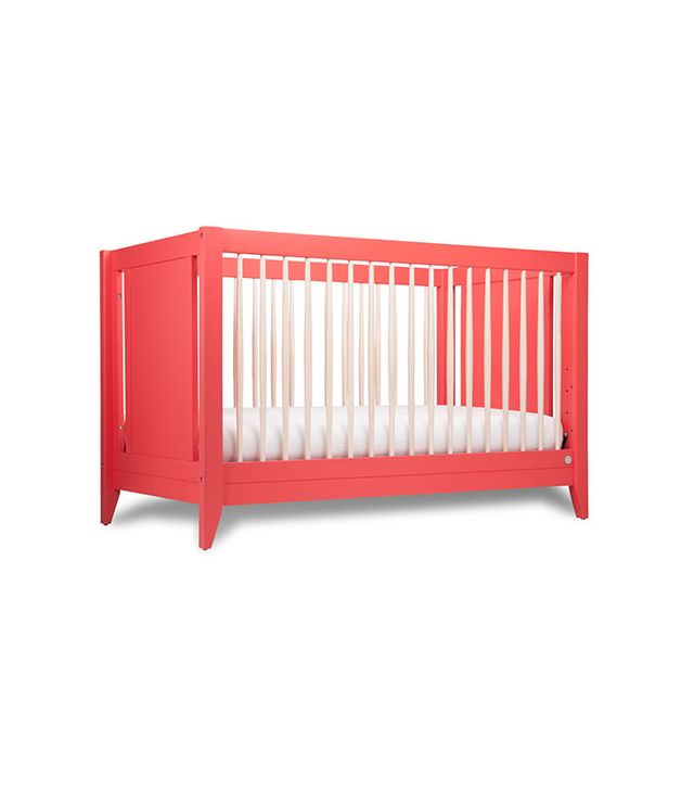 The Honest Co. x Babyletto Coral 4-in-1 Convertible Crib With Toddler Rail