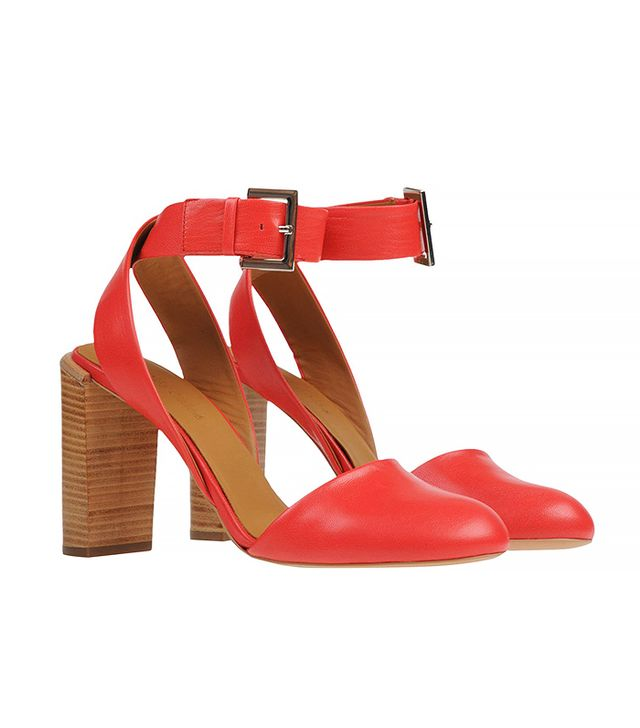 See by Chloé Buckle Strap Heels, Red