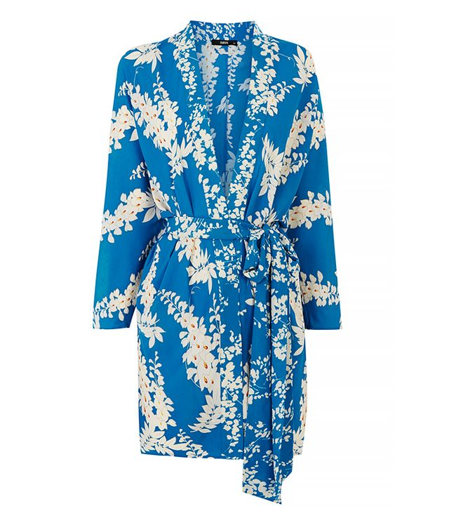 Oasis Oriental Belted Kimono Duster
