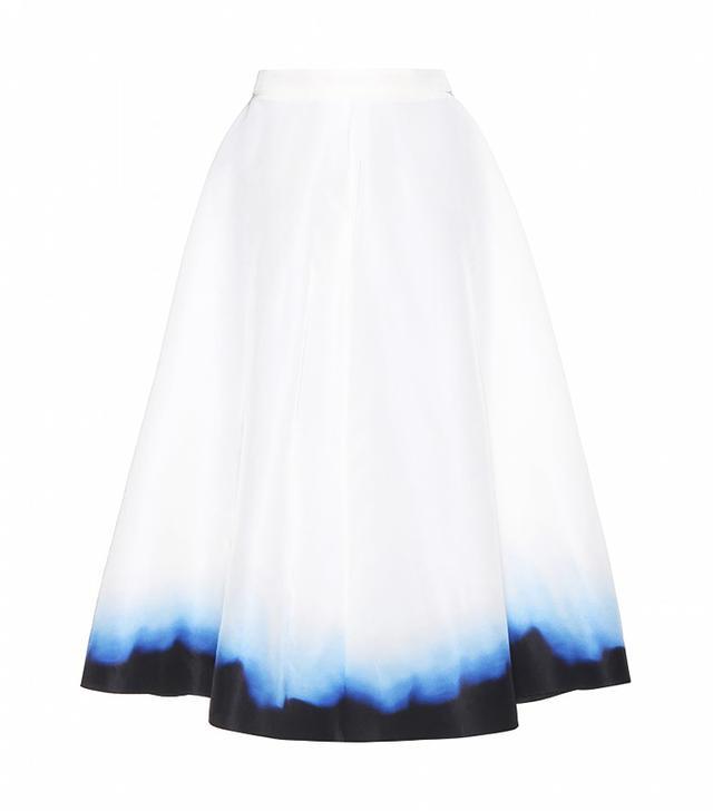 Vika Gazinskaya Dip-Dye Silk Skirt