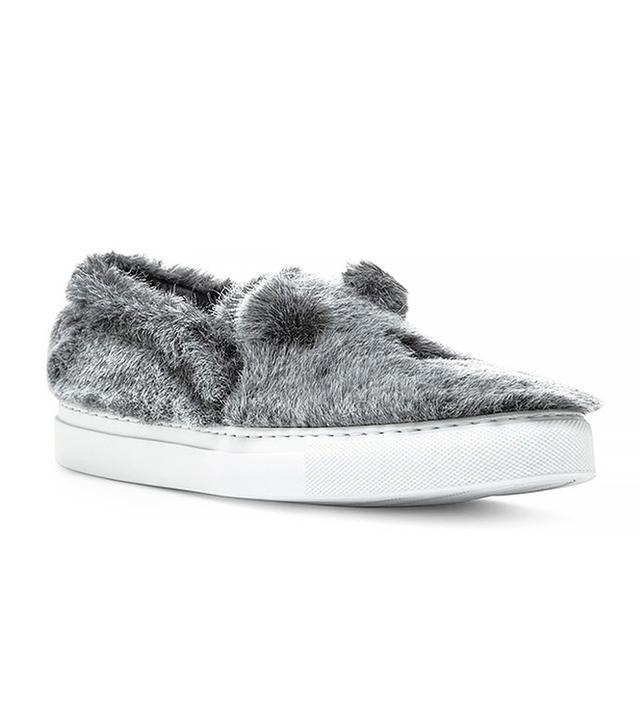 Joshua Sanders Grey Pelushe Sneakers