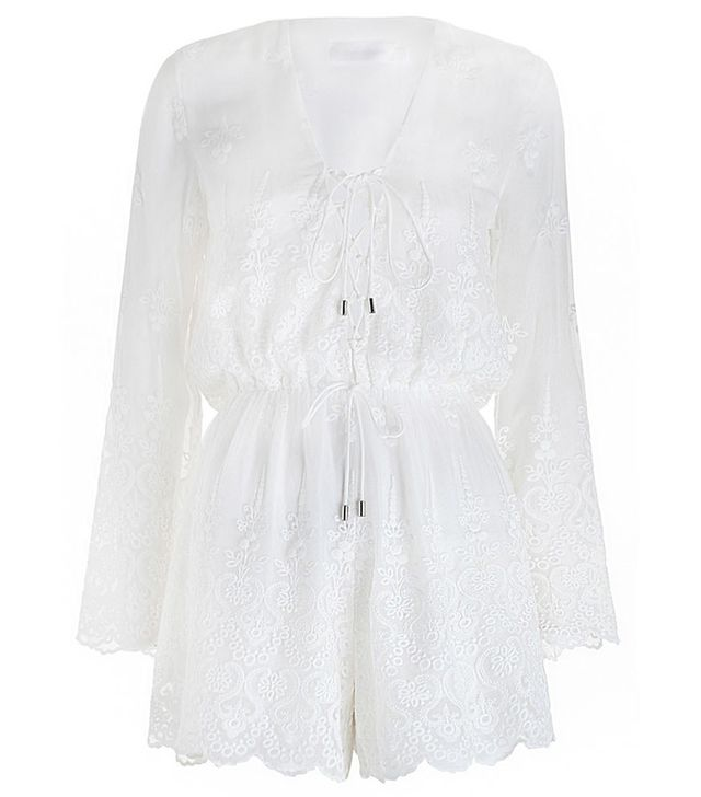 Zimmermann Lucia Silk Embroidery Playsuit