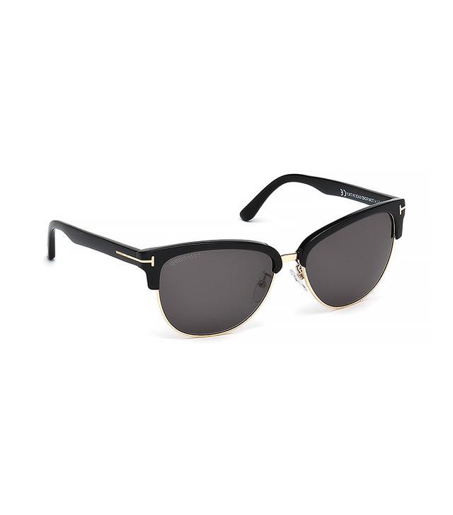Tom Ford Eyewear Fany Dual-Rim T-Temple Sunglasses