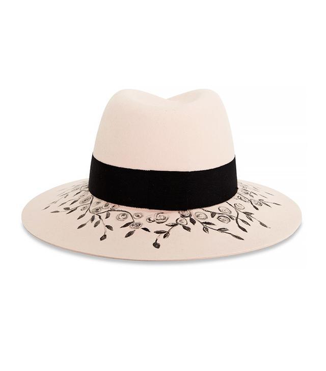 Maison Michel Virginie Floral Printed Rabbit-Felt Hat