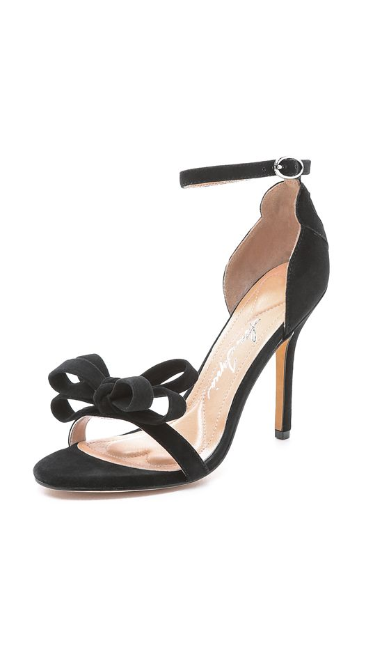 Isa Tapia Adore Bow Sandals, Black