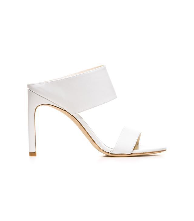 Stuart Weitzman The Myslide Sandal, White