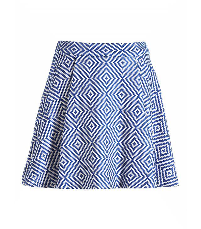 Alice + Olivia Piece & Co. Vernon Jacquard Flared Skirt