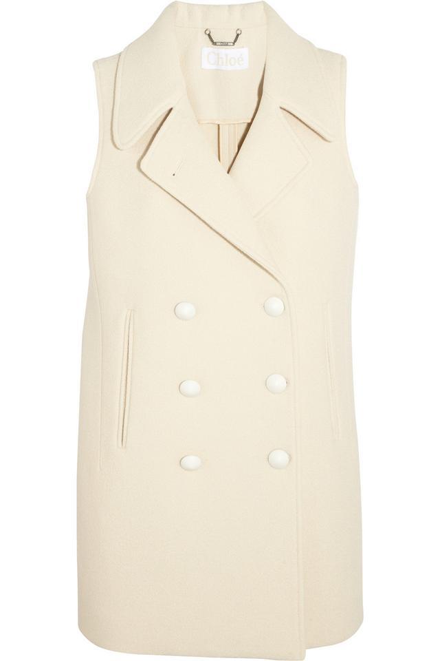 Chloé Wool-Blend Crepe Vest
