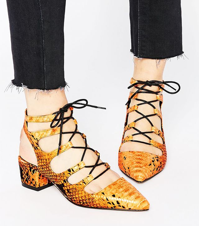 Asos Streets Ahead Lace Up Heels
