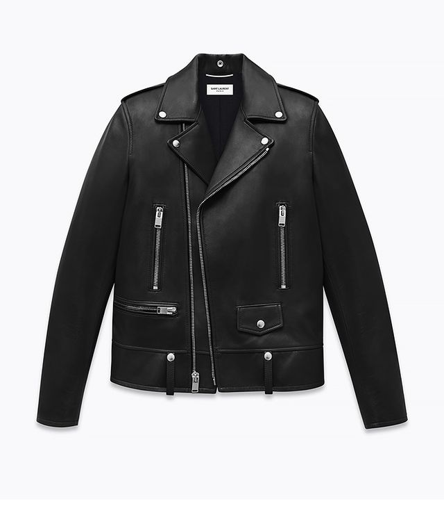 Saint Laurent Classic Leather Motorcycle Jacket, Black